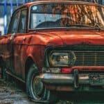 rusty vintage car