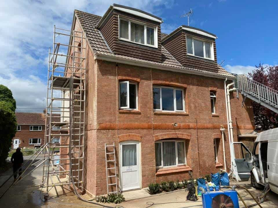 Brick Cleaning Services on exterior of house in shewton
